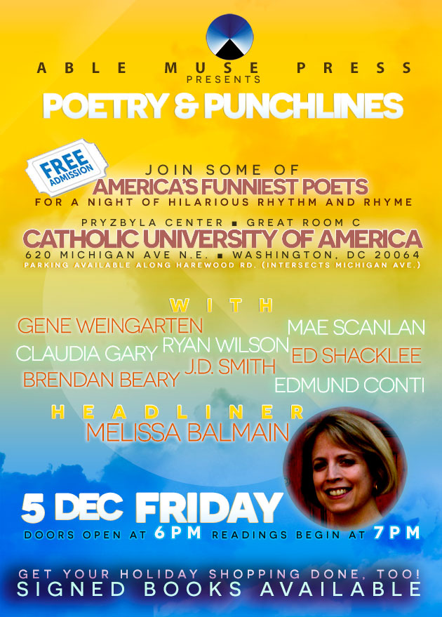 Able Muse - poetry reading - cua in washington dc, dec 2014